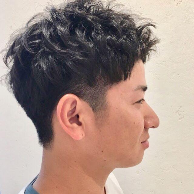 ヒートスタイルカール!短髪 直毛 パーマがかかりにくい方  セットを楽にしたい方にオススメ☆#ヒートスタイルカール#ルシードスタイルリム#リムヘアー#リムアズール#メンズパーマ